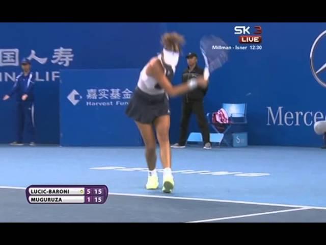 Garbiñe Muguruza demostró en Pekín que es una gran tenista... con carácter de ganadora