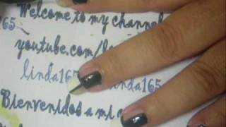 Nail Art - Ebony & Ivory - Decoracion de uñas