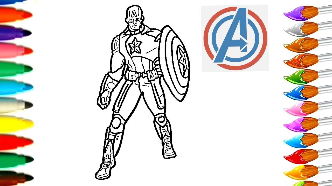 Dessin et coloriage de Captain America Avengers/ how To draw #TT22