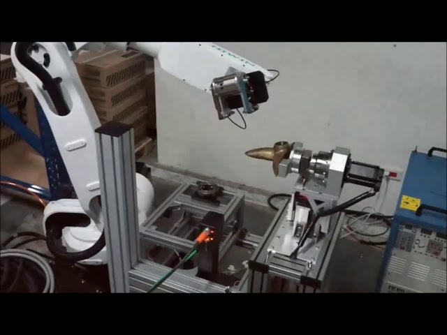 Water Tap Polishing with Articulated Robot and  QuellTech Laser Scanner - Solution Made by Quadrep