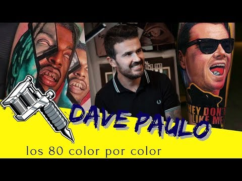"""DAVE PAULO   TATTOO ARTIST   LOS 80"""" A FULL COLOR"""