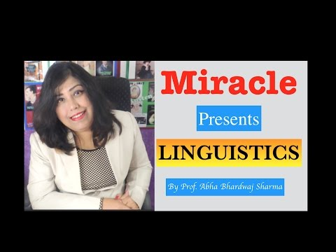 Linguistics 1 : An Introduction [ For all English Literature, Language & CBSE UGC NET students ]