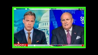 BUSTED: Jake Tapper lays bare Giuliani lies after he backtracks and says Trump never said to 'go ea