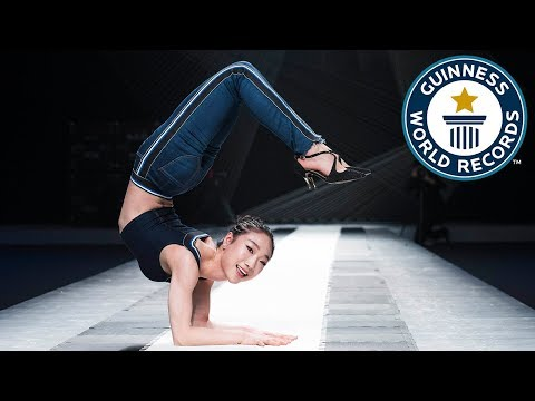 Fastest time to travel 20m in a contortion roll – Guinness World Records Day
