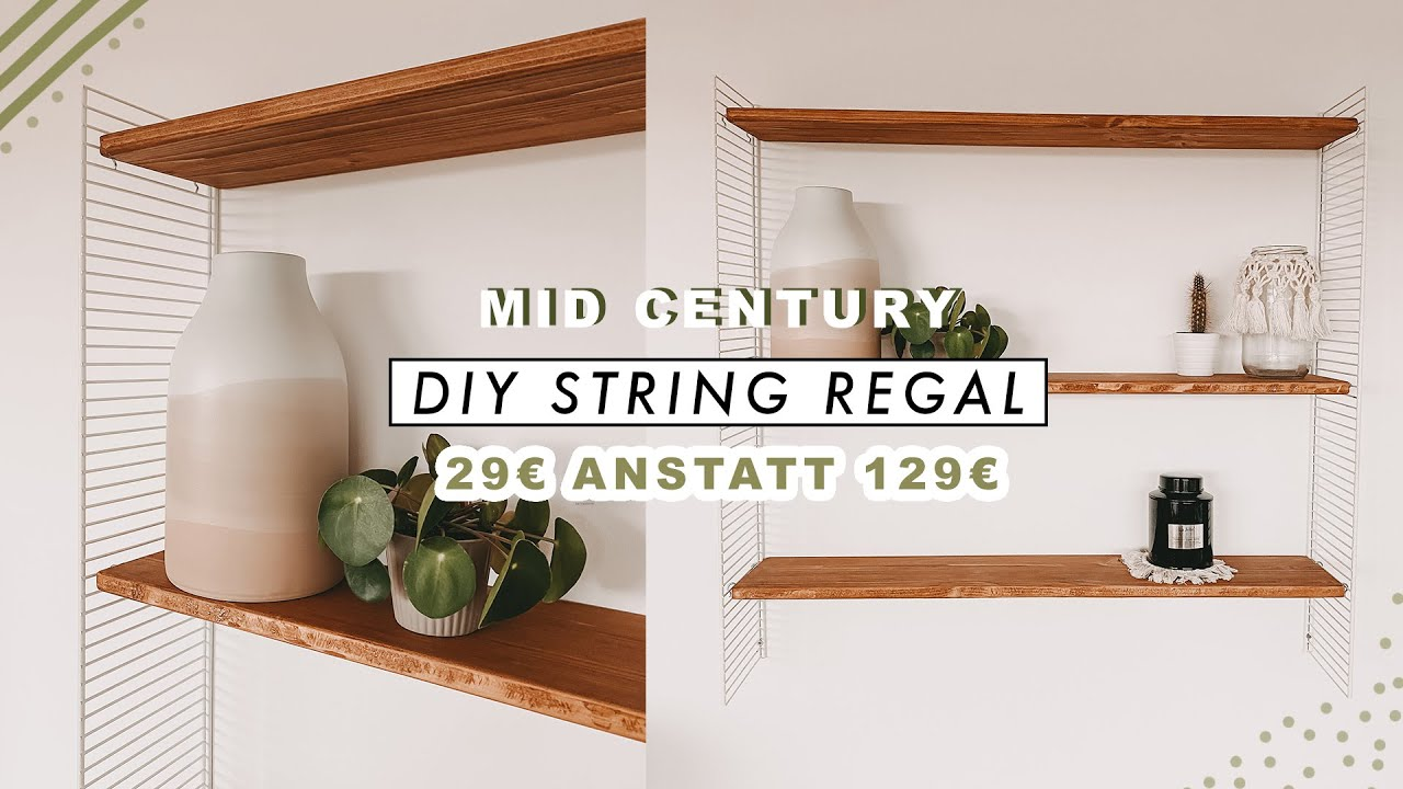 Diy String Regal Selber Bauen Mid Century Design Regal