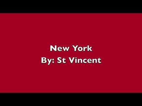 St Vincent- New York (Lyrics)