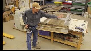 Install of barn door floor guide