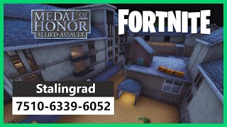 Stalingrad from Medal of Honor in Fortnite Creative! Small DM map! CODE 7510-6339-6052