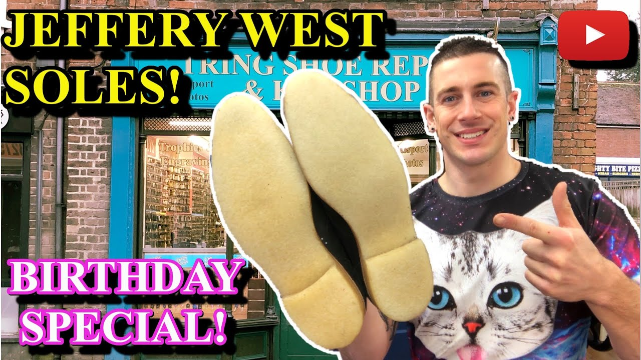 Jeffery West Crepe Sole Repair | Birthday Special! | Red Goodyear Stitching