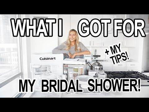HOME HAUL: WHAT I GOT FOR MY BRIDAL SHOWER + Registry Tips!