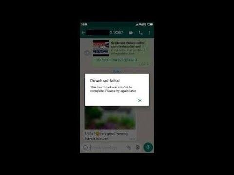 Fix Download Failed||The Download Was Unable To Complete-Whatsapp Problem