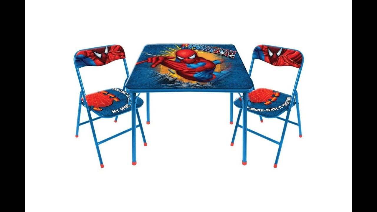 kids folding table and chairs - YouTube