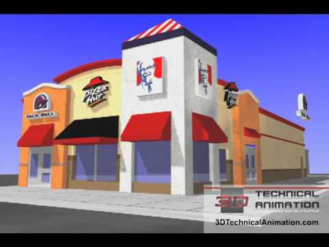 Architecture Animation - YUM Brands, Pizza Hut, Taco Bell and KFC
