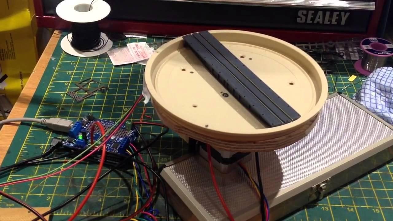 Bromsgrove N Turntable operated by Arduino