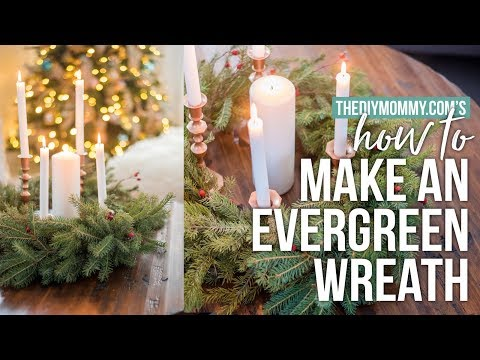 How to Make a Real Evergreen Christmas Wreath | The DIY Mommy