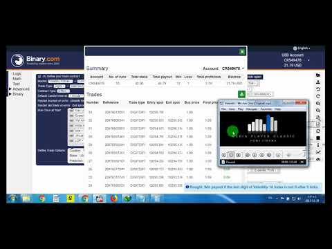 Binary Bot 2018 REAL ACCOUNT TRADING Today 2017.11.29