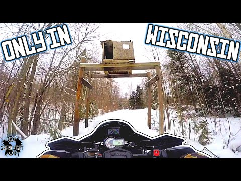 Harrison Hills To Elcho WI On A Snowmobile! | Hand Guard Giveaway???