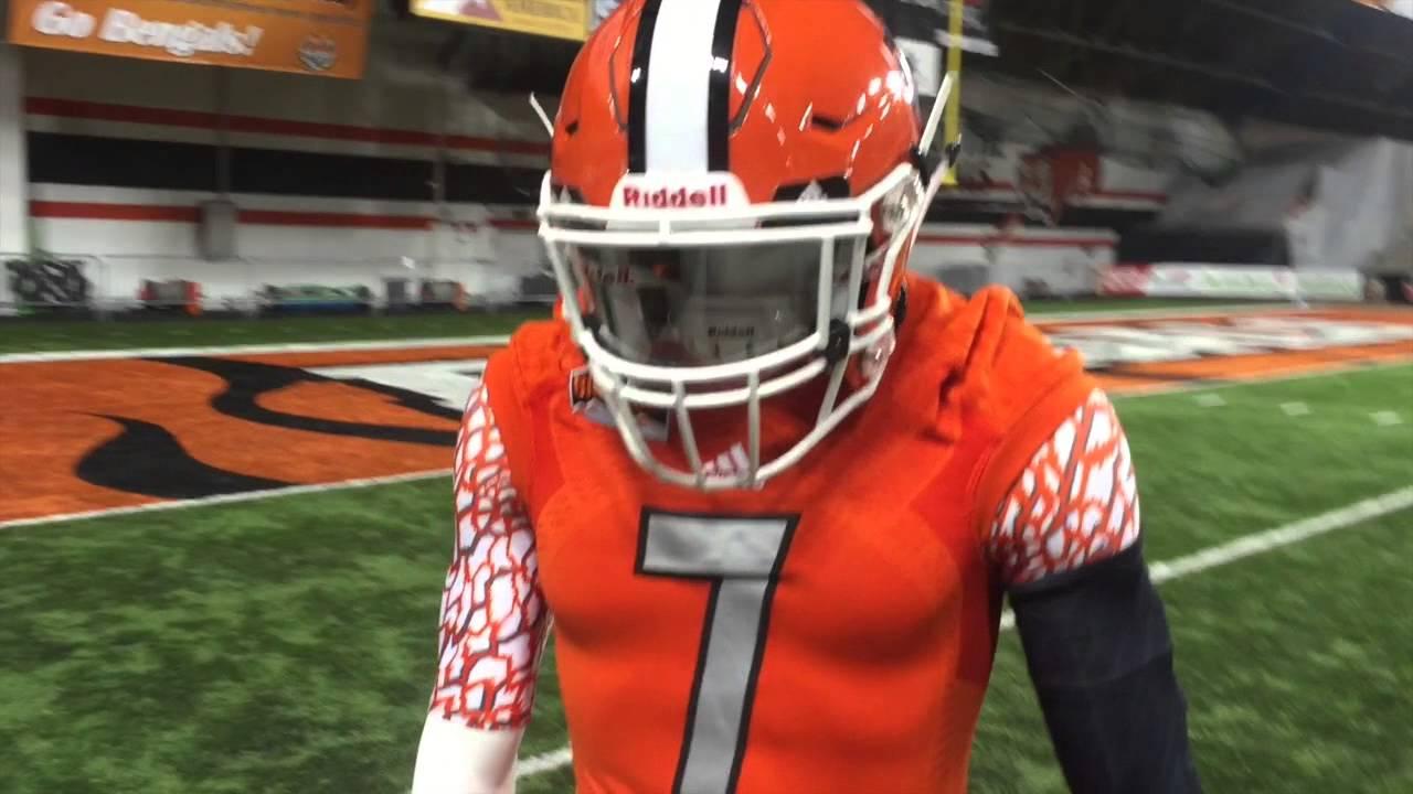 Idaho State Football S New Orange Uniform Youtube