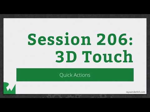 3D Touch - RWDevCon Session - raywenderlich.com