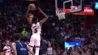 Derrick Jones Jr. Posterizes Jonas Valančiūnas   Miami Heat vs. Memphis Grizzlies Video