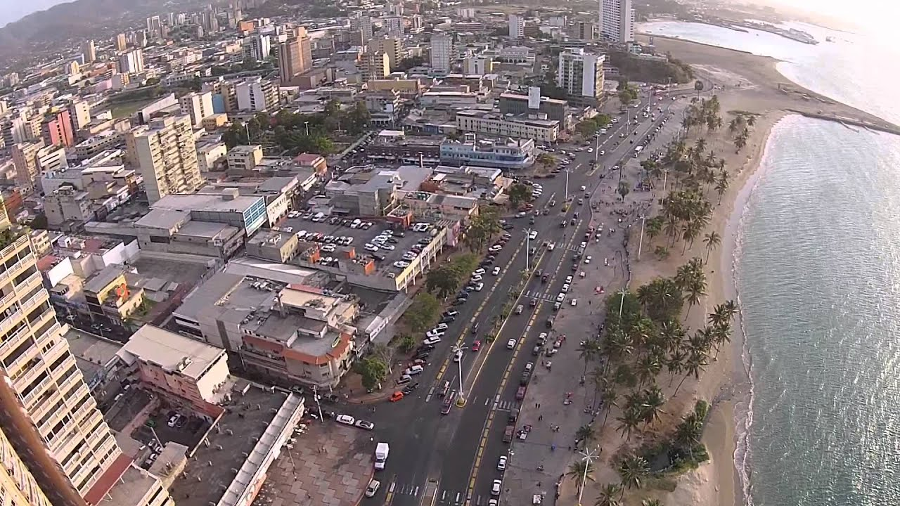 Paseo Colon Puerto La Cruz Venezuela From Above Youtube