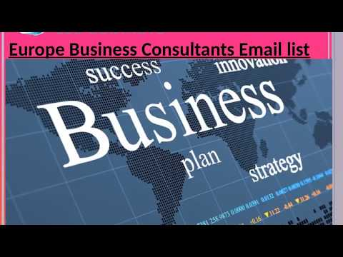 Europe Business Consultants Email list