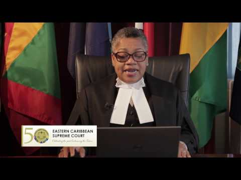 50th Anniversary Message of OECS Supreme Court Chief Justice Hon Dame Janice M Pereira