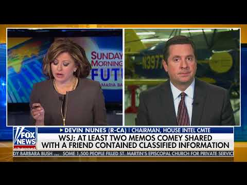 Maria Bartiromo Devin Nunes NO OFFICIAL INTELLIGENCE USED FOR TRUMP INVESTIGATION! 720P HD