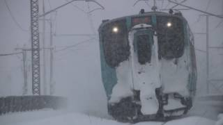 青い森鉄道 青い森703系569M 筒井駅到着 2017年3月8日