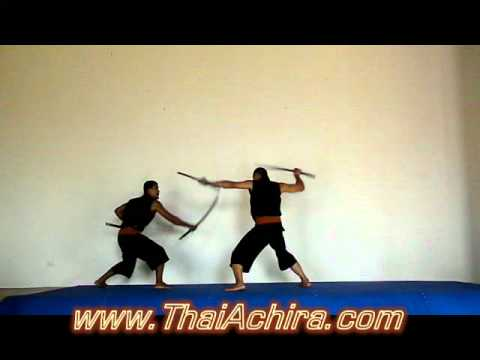 "Krabi Krabong Thai Sword Fight From ""THAIACHIRA GROUP"""