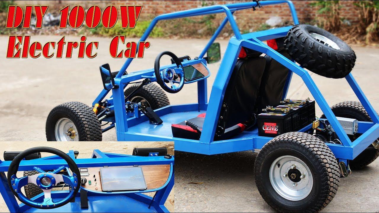 Build A Car >> Build A 1000w Electric Gokart At Home Electric Car Tutorial Part 2