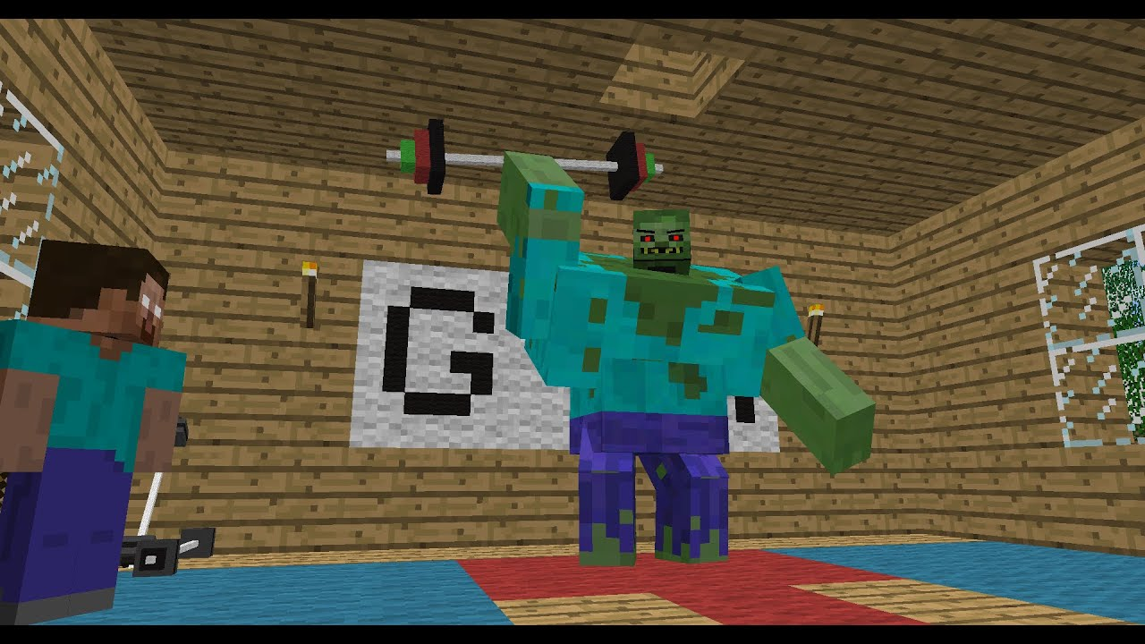 Monster School: Bodybuilding - Minecraft Animation - YouTube