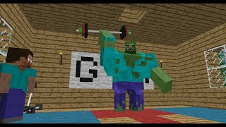 Monster School: Bodybuilding - Minecraft Animation