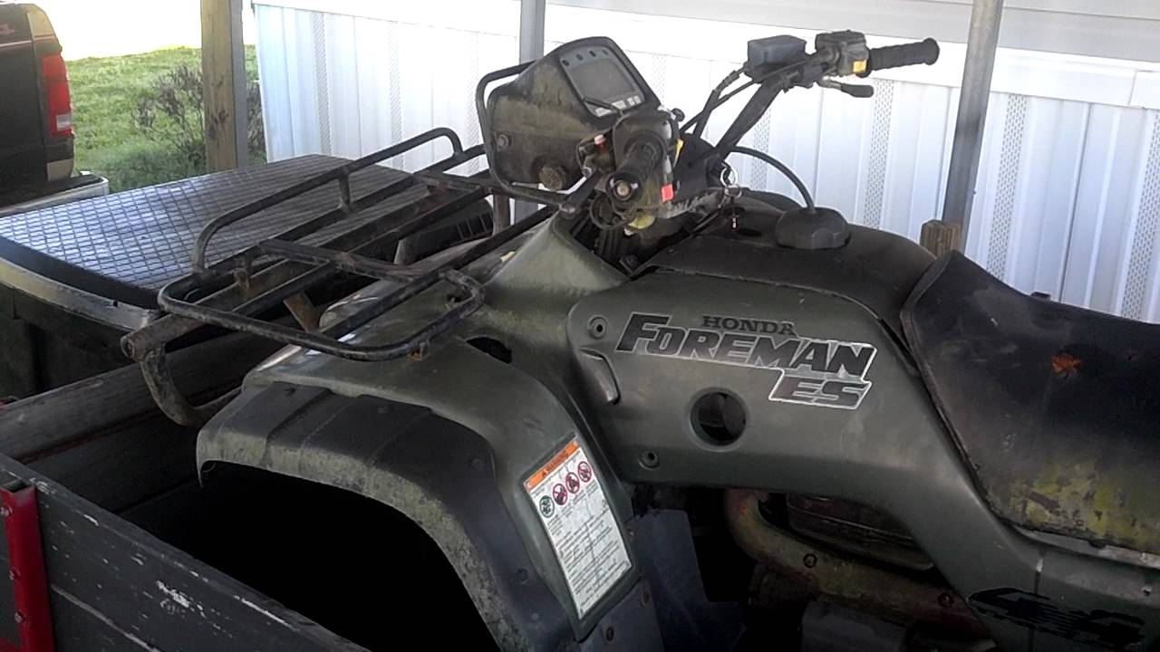 2003 Honda Foreman 450 Wiring Diagram 2001 Honda Foreman 450es Rebuild Youtube