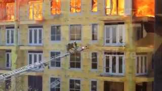 Dramatic rescue from Houston fire