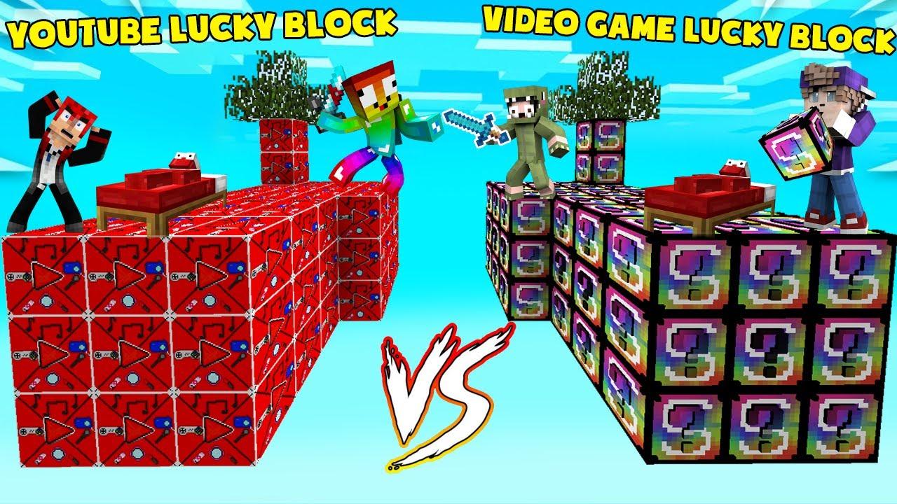 MINI GAME : YOUTUBE VS VIDEO GAME LUCKY BLOCK BEDWARS ** ĐỒ VIP DO NHÂN PHẨM HAY LÀ DO LUCKY BLOCK ?