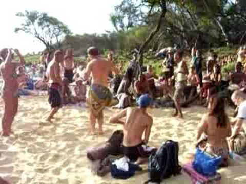 Drum Circle At Little Beach In Makena Maui