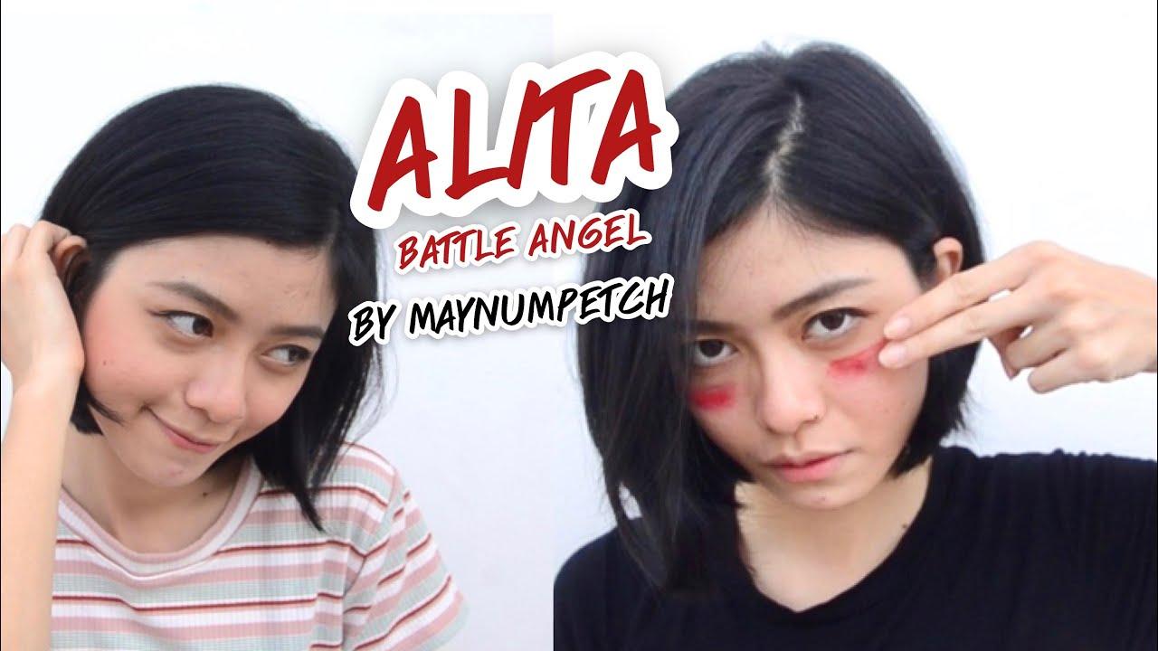 Makeup Alita character|Do I look like Alita? Thai Alita real life by Maynumpetch