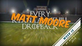 Every Matt Moore Dropback - Week 15 @ NYJ