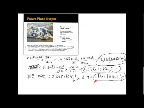 Efficiency and Capacity Factor Calculations - Power Plant