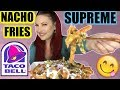 MUKBANG TACO BELL NACHO SUPREME FRENCH FRIES TASTE TEST REVIEW *BURPING* VEGAN