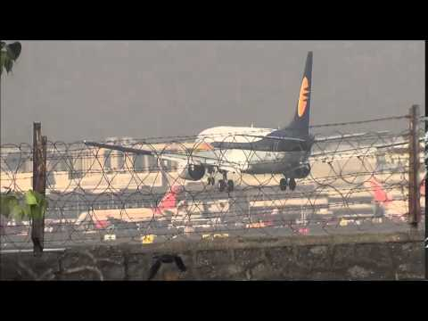 Indigo,Spicejet,Air India,Jet Airways,Go Air,Landing ,Taxiing & Takeoff From CSIA Mumbai