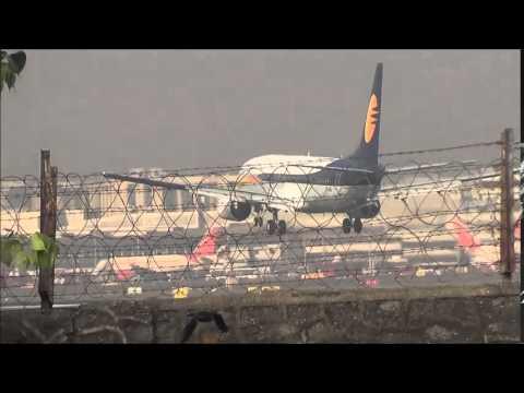 Indigo,Spicejet,Air India,Jet Airways,Go Air,Landing ,Taxiing & Takeoff From CSIA Mumbai
