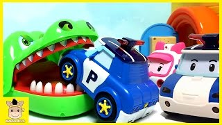 Transforming Police Car Poli Fire Truck Roy Robocar Rescue Station & Transforming | MariAndKids Toys