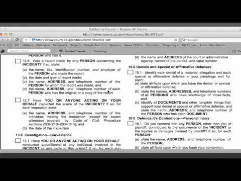 Legal Screen Cast - 0001 Form Interrogatory 15.1