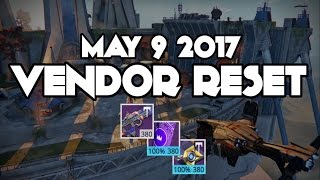 Destiny Weekly VENDOR Reset May 9 2017 Godly PVE Scout 100% Ro…