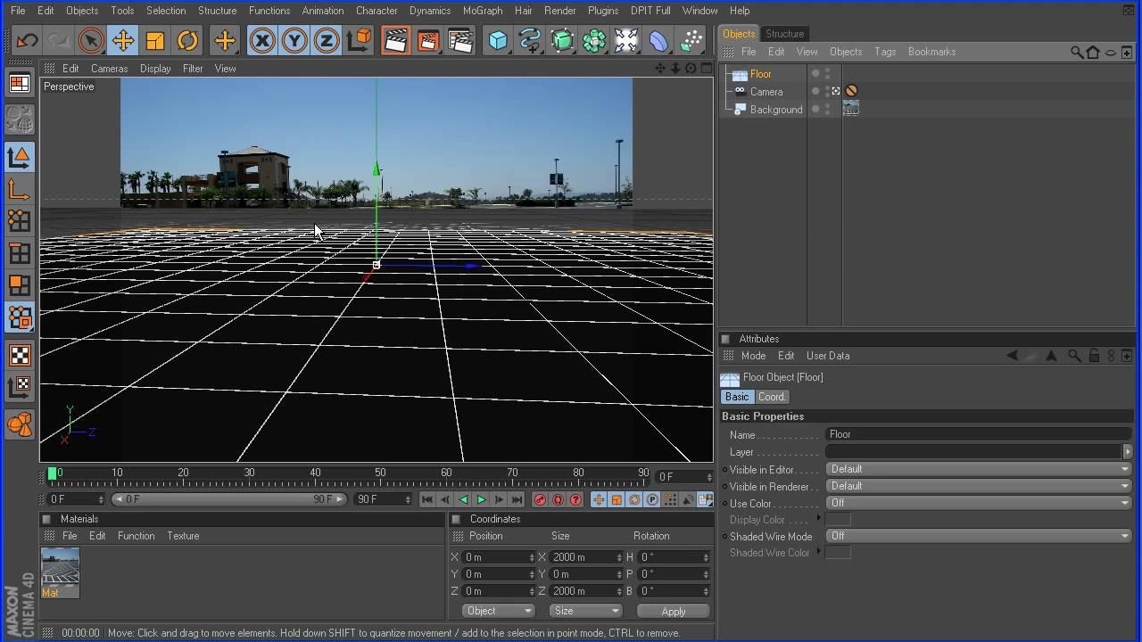 Cinema 4d tutorial 2 basic compositing part 1 hd youtube for Cinema 4d raumgestaltung