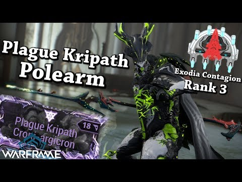 Warframe | Plague Kripath Polearm + Riven [2 Forma Build] thumbnail