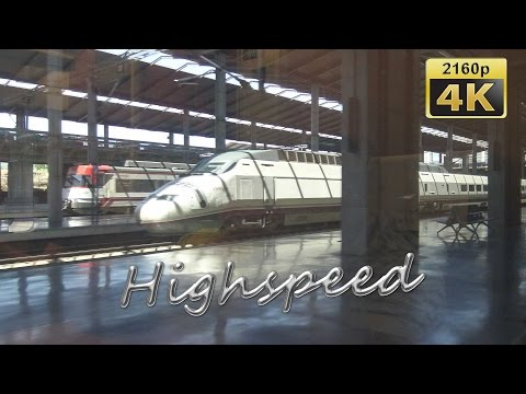 By High Speed Train from Antequera to Paris - Spain, France 4K Travel Channel