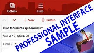 UI Design Sample File | FileMaker UI | FileMaker Training Vide…